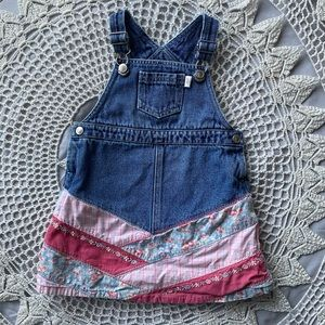 Gymboree Denim Overall Dress with Patchwork Bottom